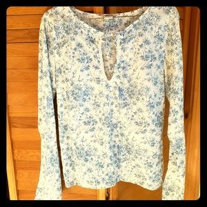 Abercrombie & Fitch | Medium | Floral Linen Blouse